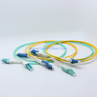 LC uniboot patch cable with Push-Pull Tabs