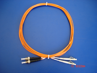 LC/PC-ST/PC MM Duplex patch cord