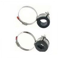Hose type feeder clamp with rubber for fiber clamp