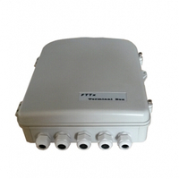 144 Splice Fiber Optic Terminal Box with PG Gland Ports