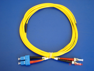 SC/PC-ST/PC SM Duplex 3.0 patch cord