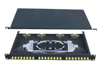 19 inch FTTB ST Fixed Fiber Optic Terminal Box with 12port Simplex